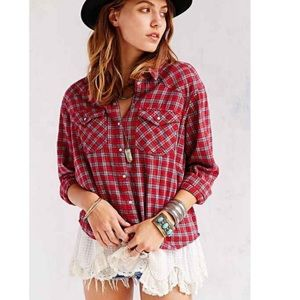 Urban Outfitters   BDG Flannel with Lace Petticoat